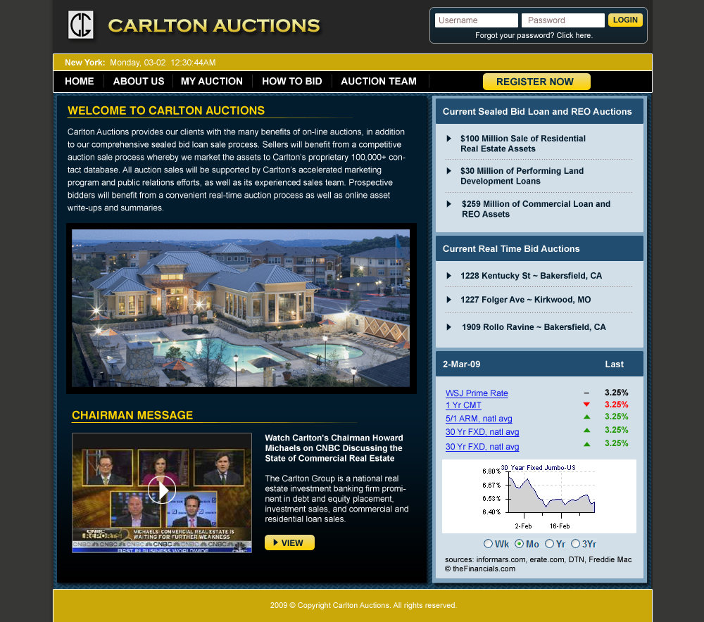 Carlton Exchange Website Home Page