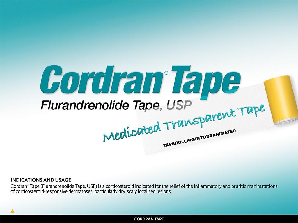 Cordran Tape Animated Product Detailer Screen