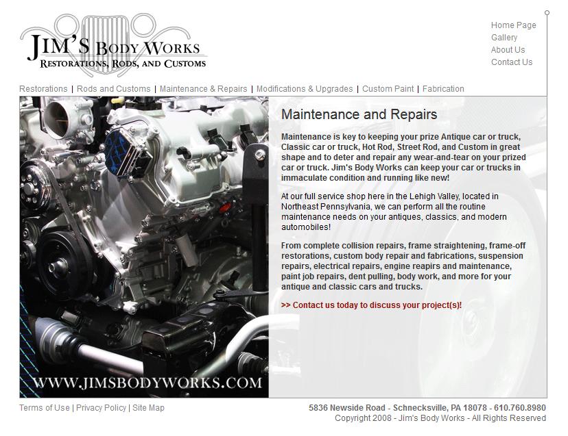 Jim\'s Body Works Maintenance and Repairs Page | John Edward Trail