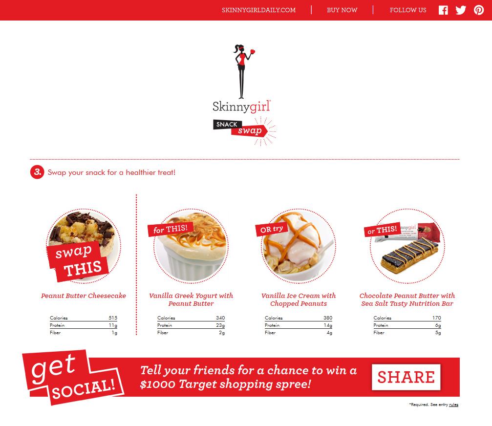 Skinnygirl Snack Swap Choose Alternative Page
