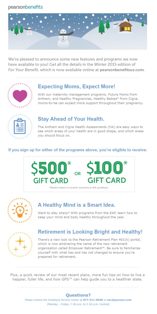 Pearson Benefits Newsletter Email