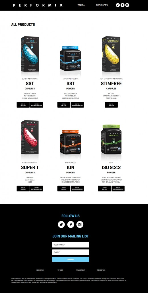 Performix All Products Page