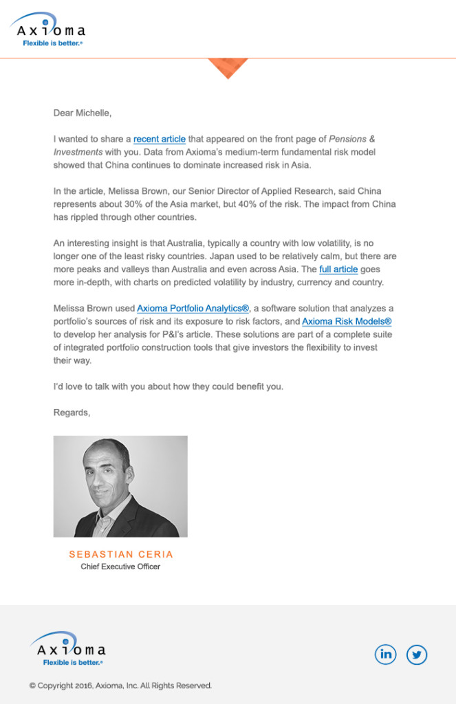 Letter Email Template