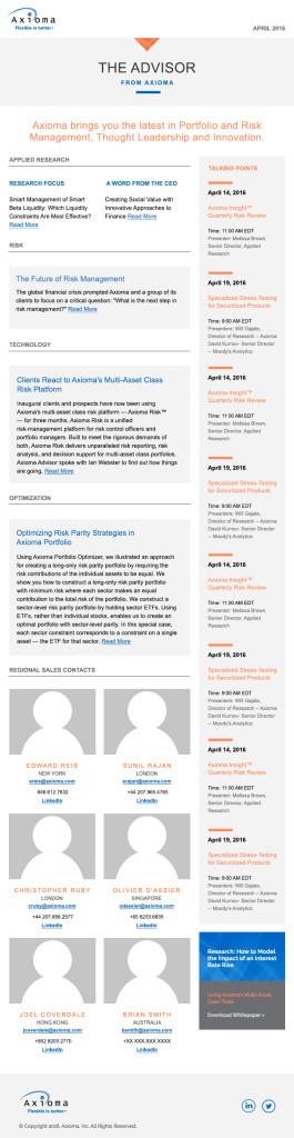 Newsletter Template Long Column