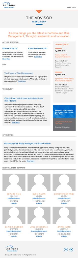 Newsletter Template Short Column