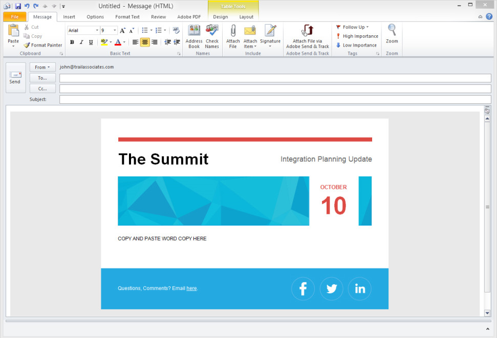 genesys integrated word and outlook email template system john